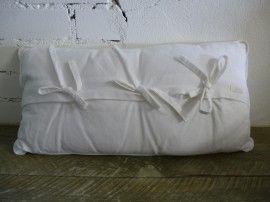 Vulling Voor Kussens : Ml fabrics kussen wit met strikjes cm met vulling diy