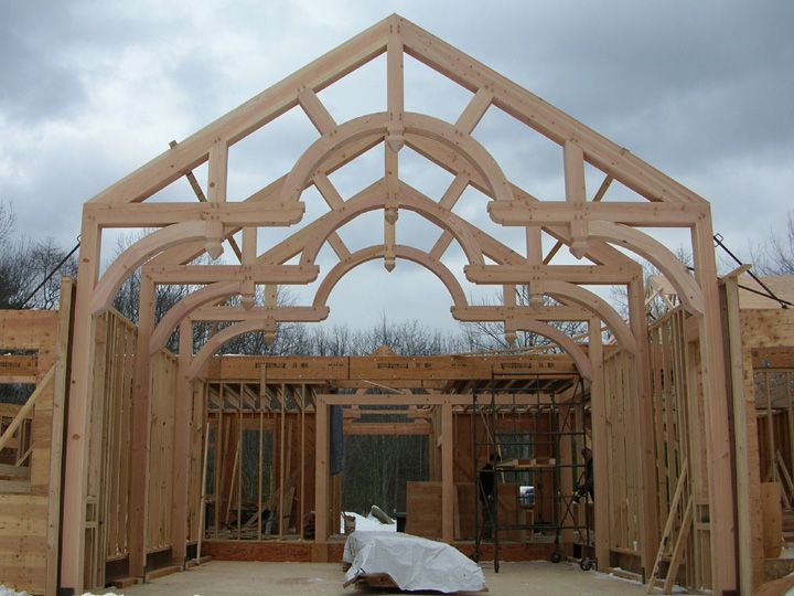 Hammer Beam Truss West Greenwich Timber Frame