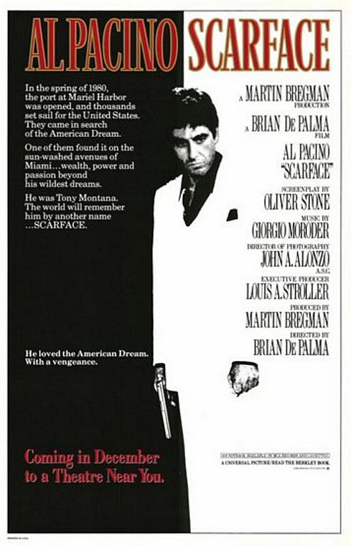 The Most Iconic Movie Posters Scarface Movie Scarface Poster Best Movie Posters