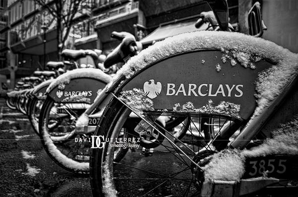 Barclays Cycle Hire London Uk Black And White Photography