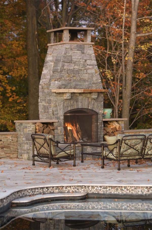 53 Most amazing outdoor fireplace designs ever | Outdoor ... on Amazing Outdoor Fireplaces id=69530