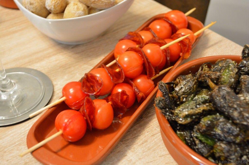Tapas - Tomaten-Chorizo Spieße - Katha-kocht!
