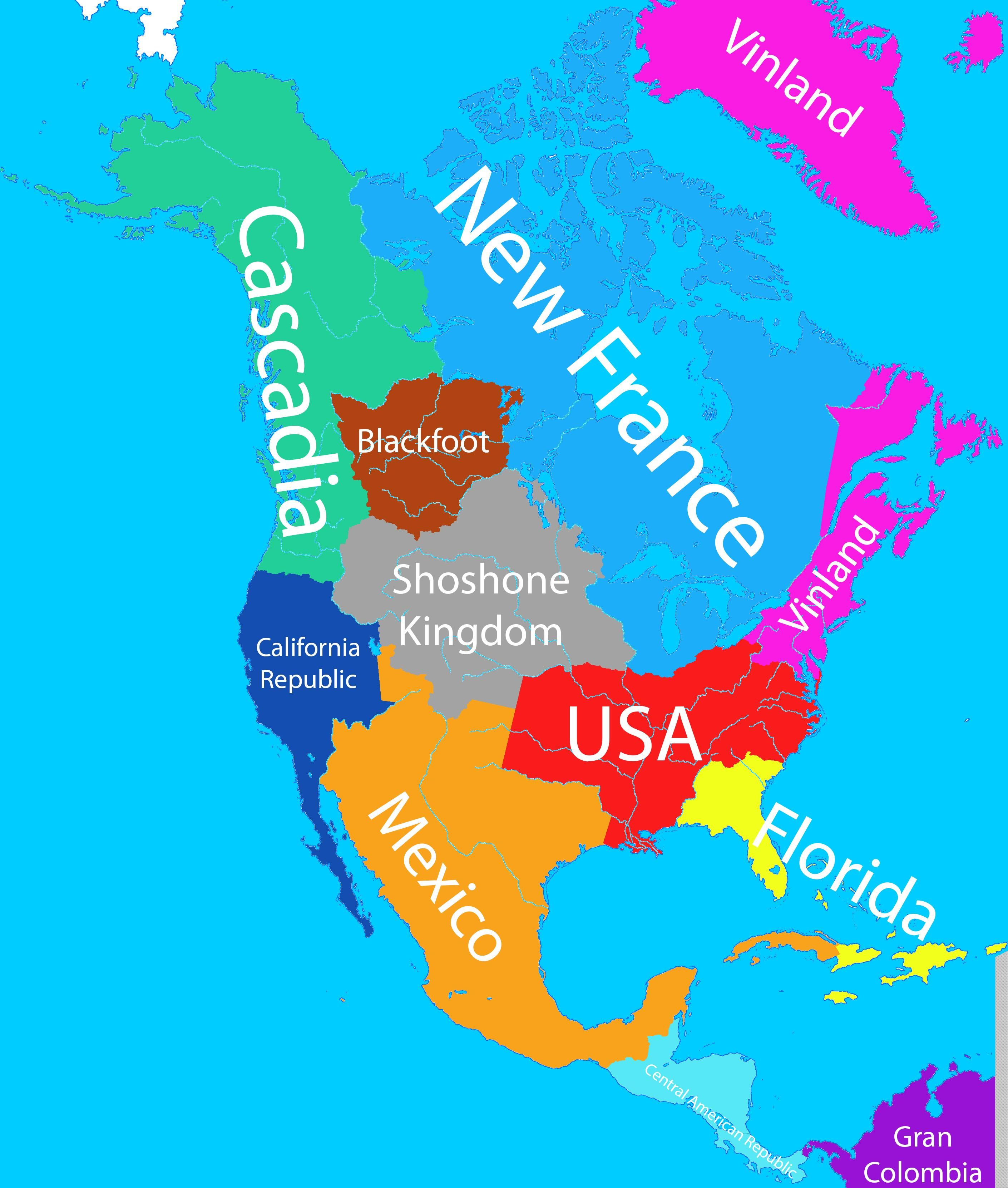 Alternate North America With Images Alternate History