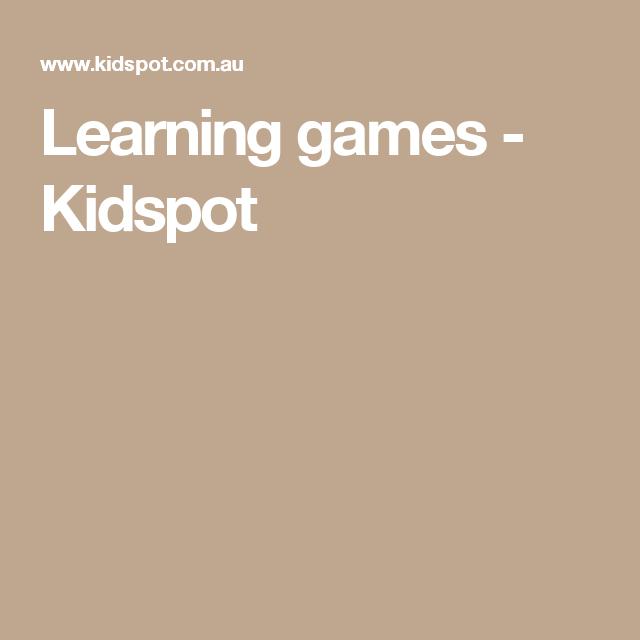 Learning games - Kidspot