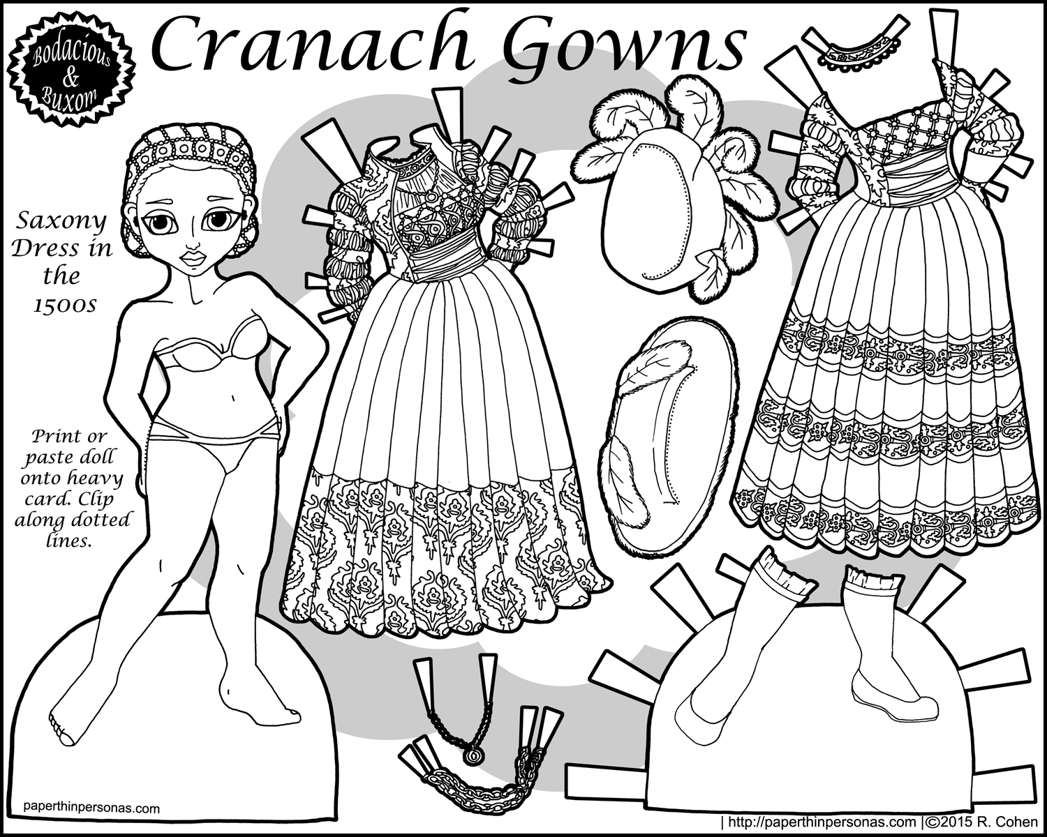 Cranach Gowns A Paper Doll Of A 15th Century Saxony Dress
