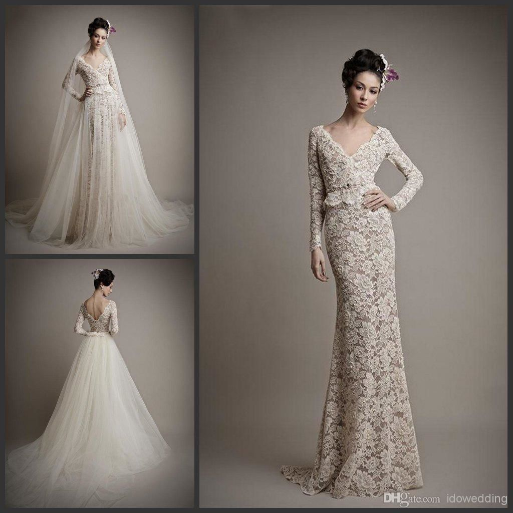 Wedding Dress With Detachable Skirt Uk This Is Beautiful Long Sleeve Wedding Dress Lace Bridal Gowns Online Wedding Dresses