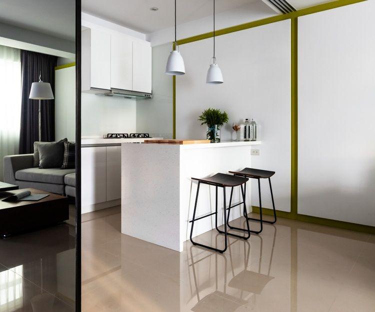 Küche ohne modernen und funktionalen Griff denn weniger