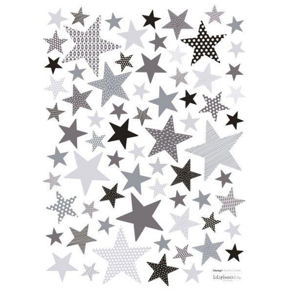 Sticker étoiles bleu gris Remix Tit Prince Pinterest Chambres