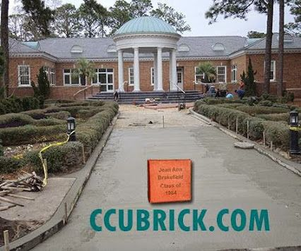 In just about a month, this walkway will be paved with bricks and you can be a part of it. When the newly renovated Atheneum Hall Alumni Center opens up, the Alumni Walk will greet the Coastal community. You have the opportunity to leave your legacy by purchasing a brick. For more info and to order, just follow the link: http://ccubrick.com/