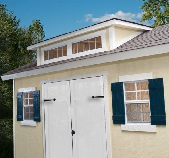 Details About Stonecroft 12 X 10 Wood Storage Shed By Yardline New Ships From Factory Wood Storage Sheds Storage Shed Wood Storage