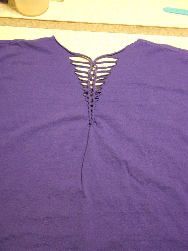 How to Alter a Man\'s T-shirt Again DSCN0318 | DIY | Pinterest ...