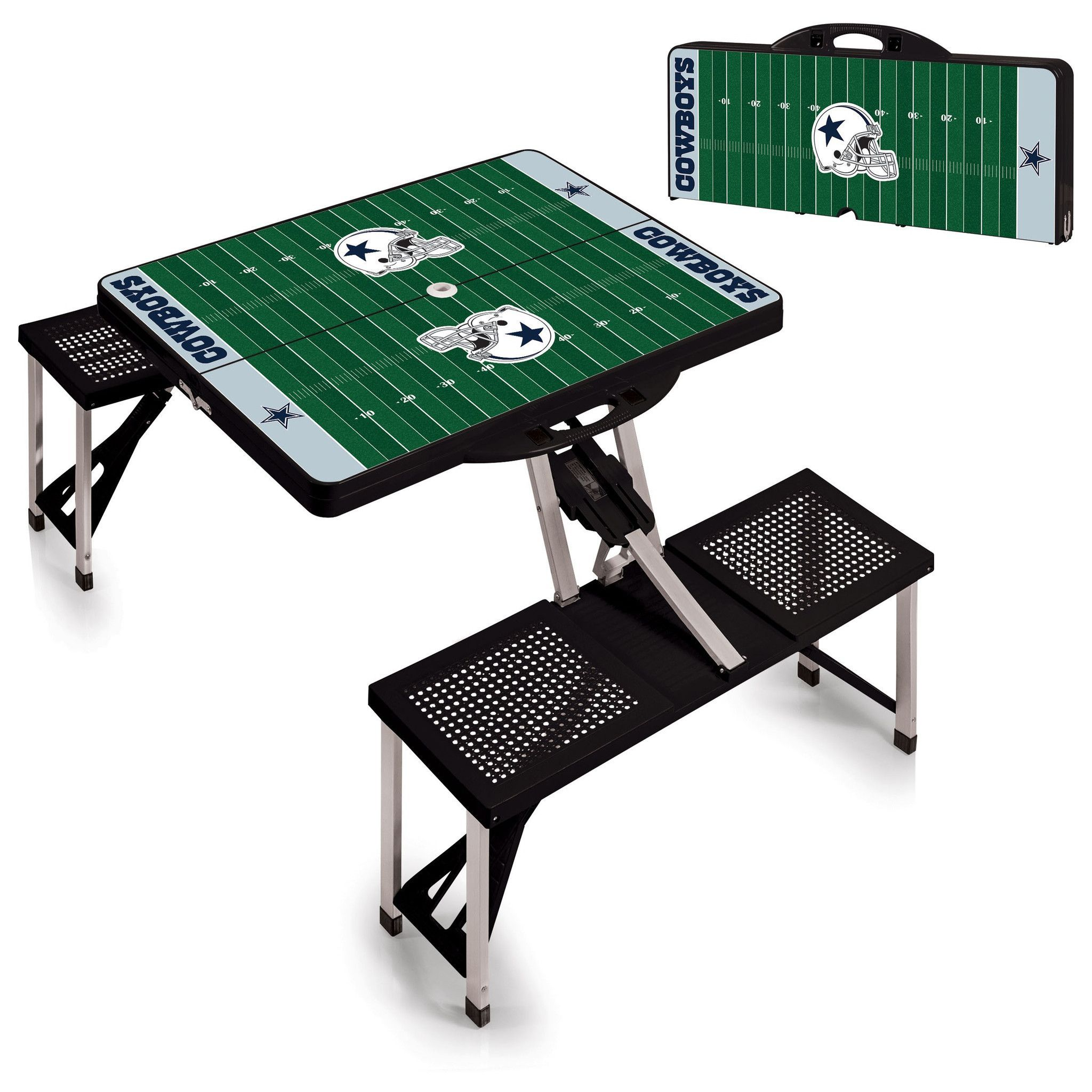 37ee9690667 Dallas Cowboys Folding Picnic Table - by Picnic Time