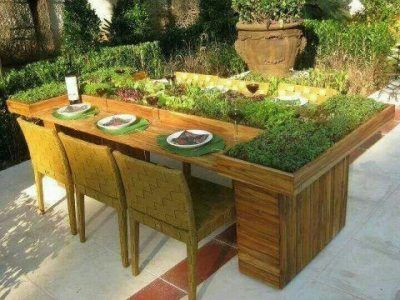 Garden tables from repurposed wood planter table designs and DIY – Herb Garden Table Plans