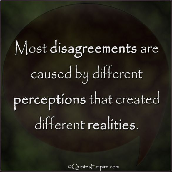 Reasons for Disagreements | Perception quotes, Disagreement quotes ...