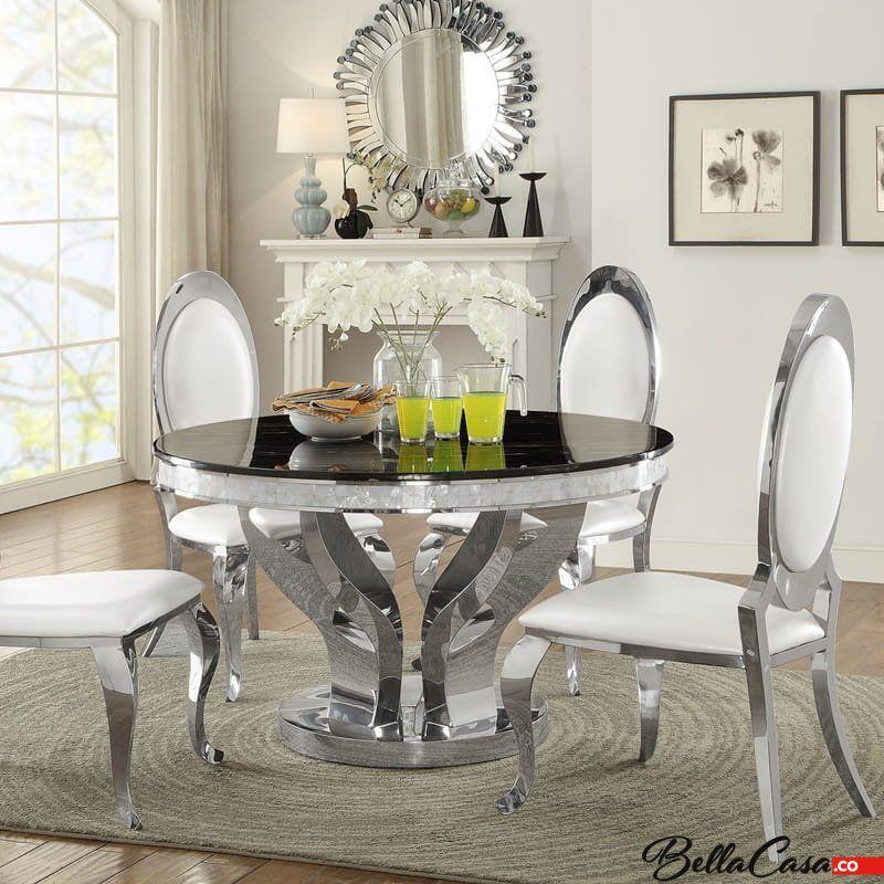 Barock Tisch Davson 130 Cm Rund Glasplatte In 2020 Barock Tisch Tisch Runder Esstisch