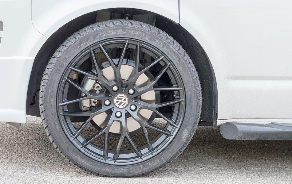 20 Vw T5 Raceline Gt 5 Alloy Wheels In Satin Black Alloy Wheel