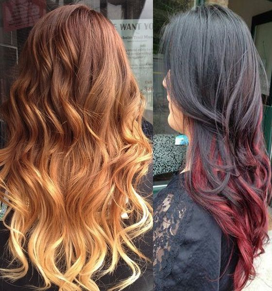 fiery red highlights hair styles