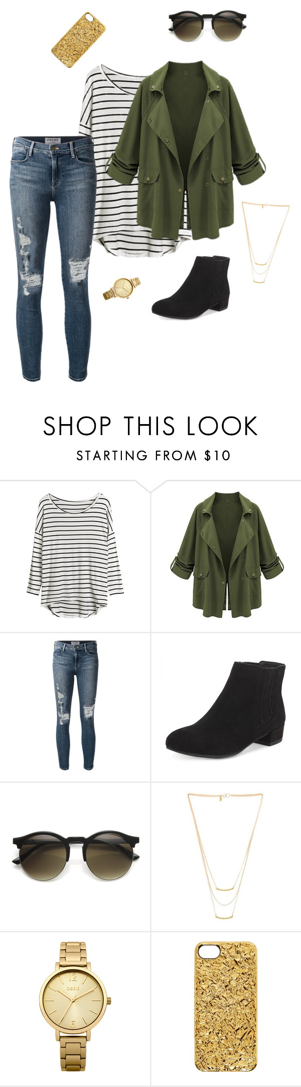 """""""Untitled #37"""" by molliebrigid ❤ liked on Polyvore featuring Frame Denim, Gorjana, Oasis and Marc by Marc Jacobs"""