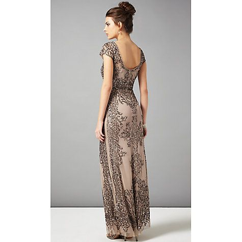 Buy Phase Eight Collection 8 Zita Embellished Dress, Bronze Online ...