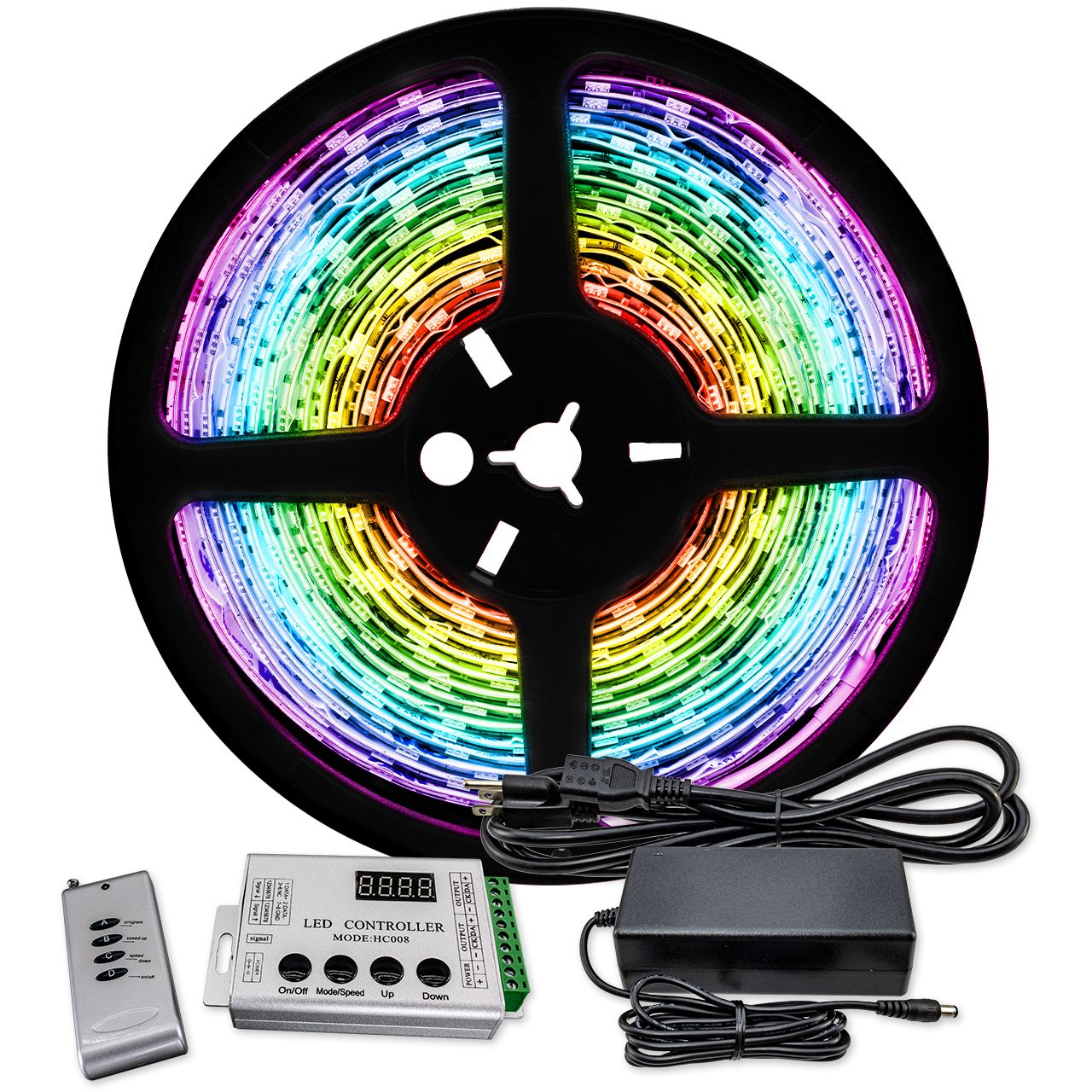 Rgb Color Changing Chasing Led Strip Light 12 Volt High Output Smd 5050 Outdoor Use Ip67 In 2020 Strip Lighting Led Color Changing Lights Led Strip Lighting