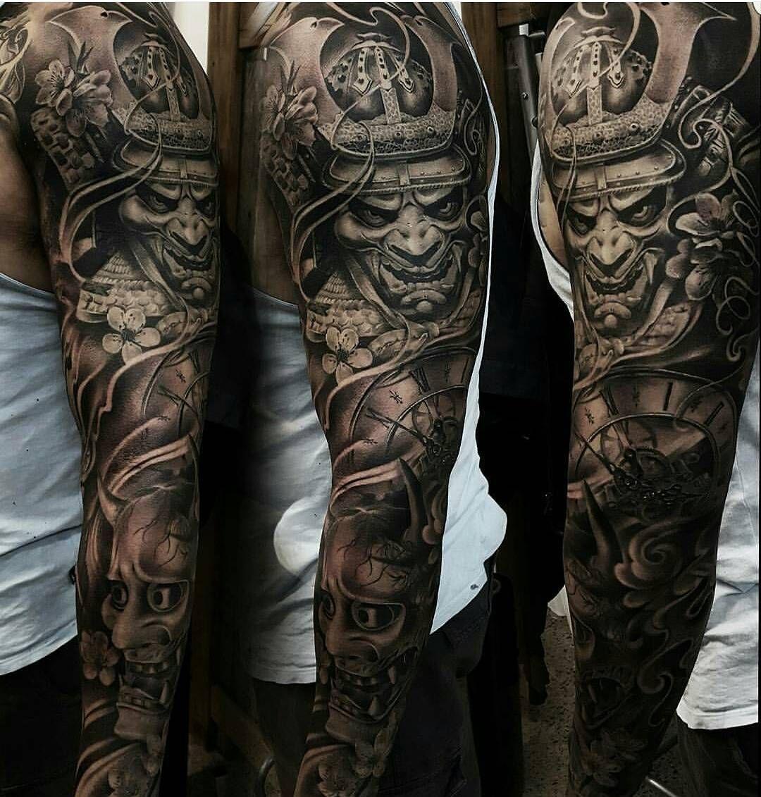 6 385 Likes 47 Comments Tattoo Realistic Tattoorealistic On Instagram By Yz Asencio Art Samurai Tattoo Sleeve Full Sleeve Tattoos Best Sleeve Tattoos
