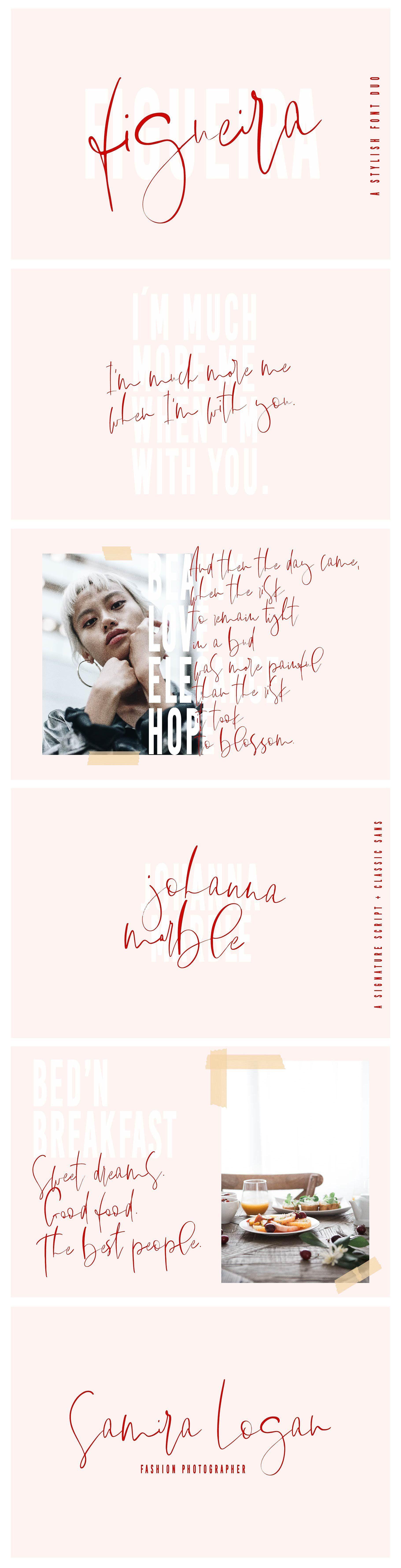 Figueira A Stylish Font Duo by Sinikka Li on