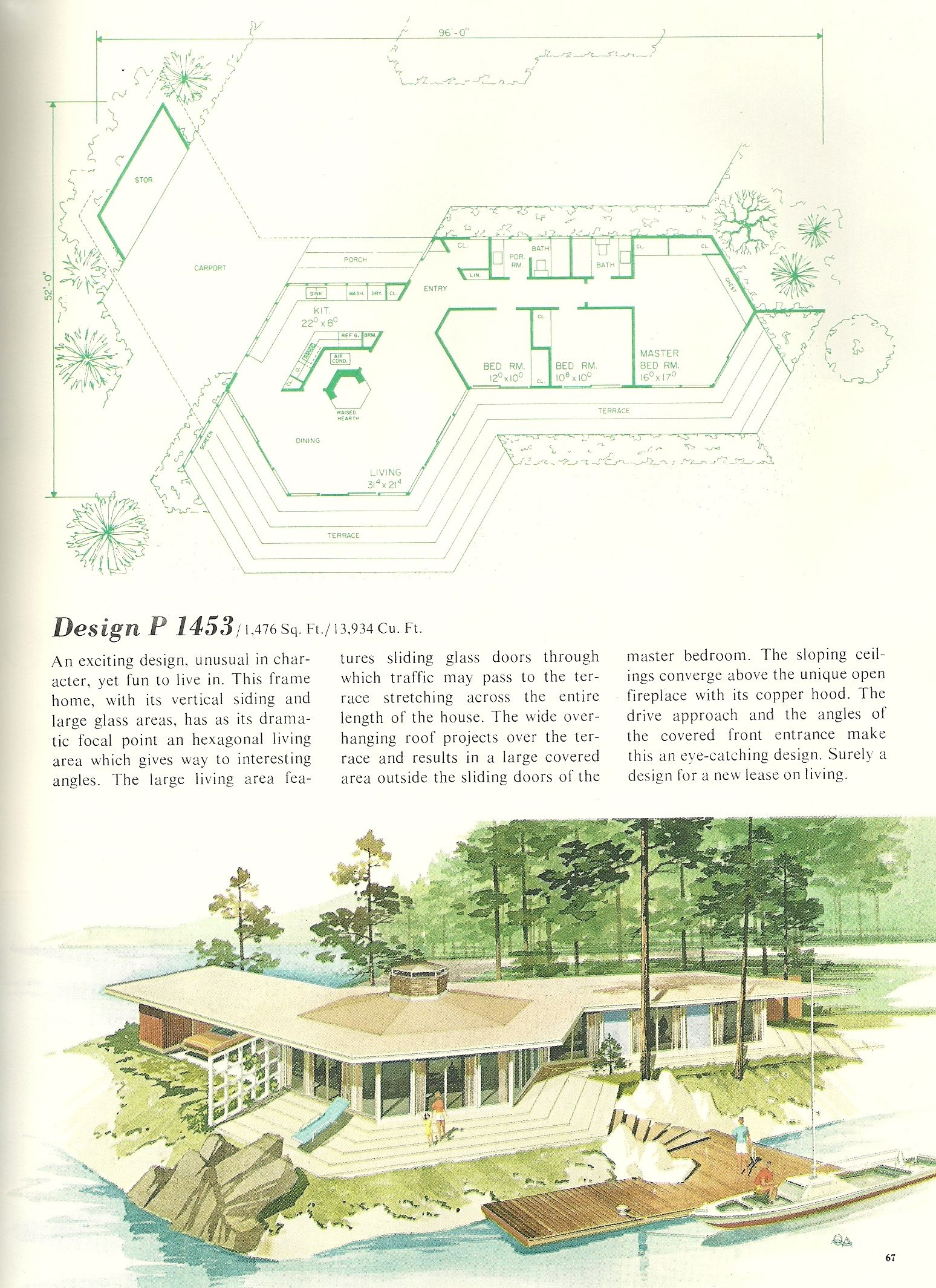 Vintage Vacation Home Plans 1453 Vintage House Plans Vacation House Plans Mid Century House