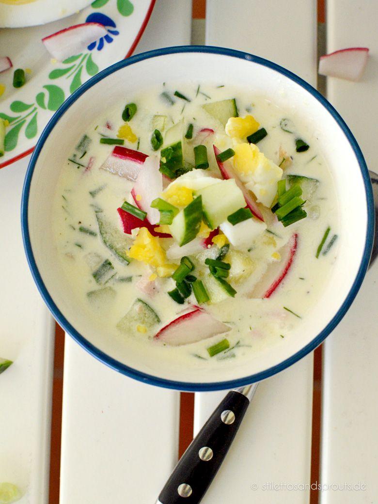 Kalte Russische Sommersuppe - Stilettos & Sprouts
