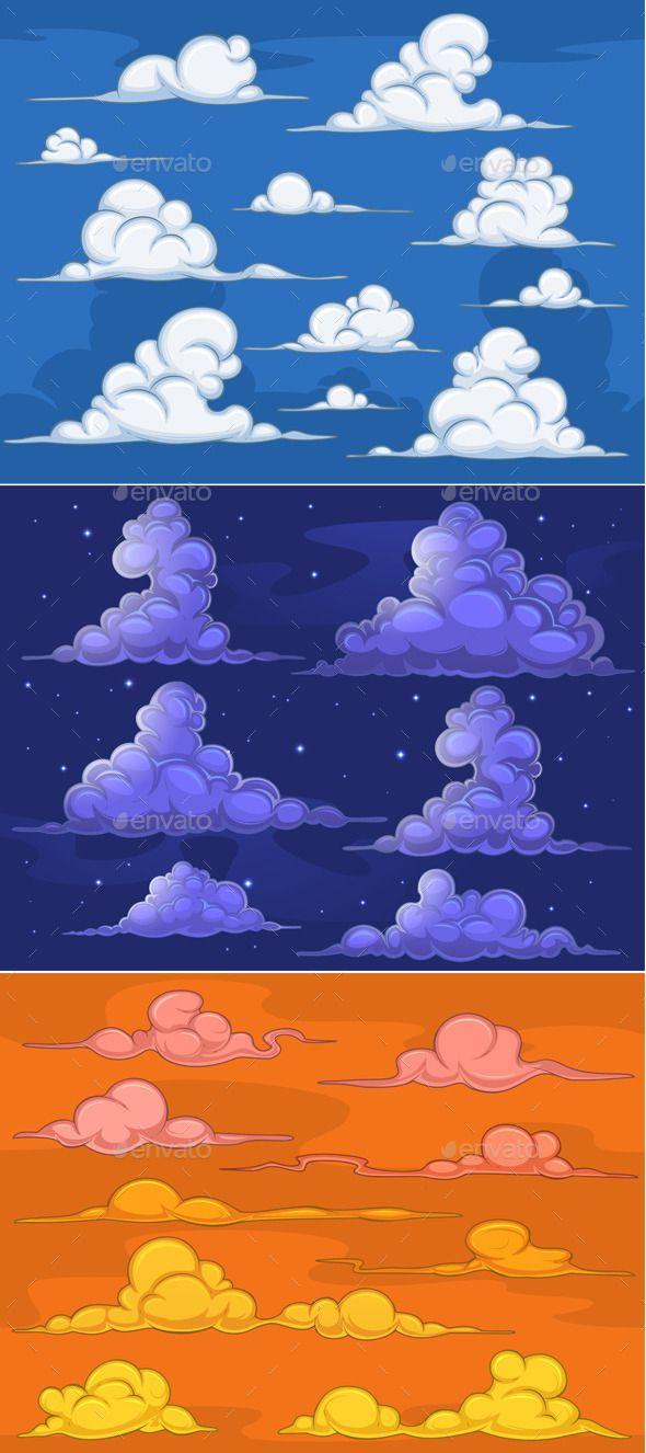 Cartoon Clouds Cartoon Clouds Cloud Drawing Cloud Illustration