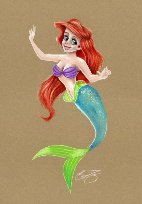 Little Mermaid Colored Pencil Drawing Color Pencil Drawing Drawings Pencil Drawings