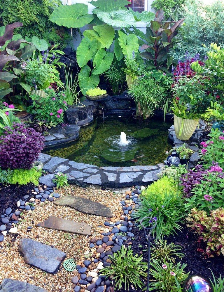 50 INSPIRING IDEAS BACKYARD PONDS AND WATER GARDENS ... on Small Pond Landscaping Ideas id=67416