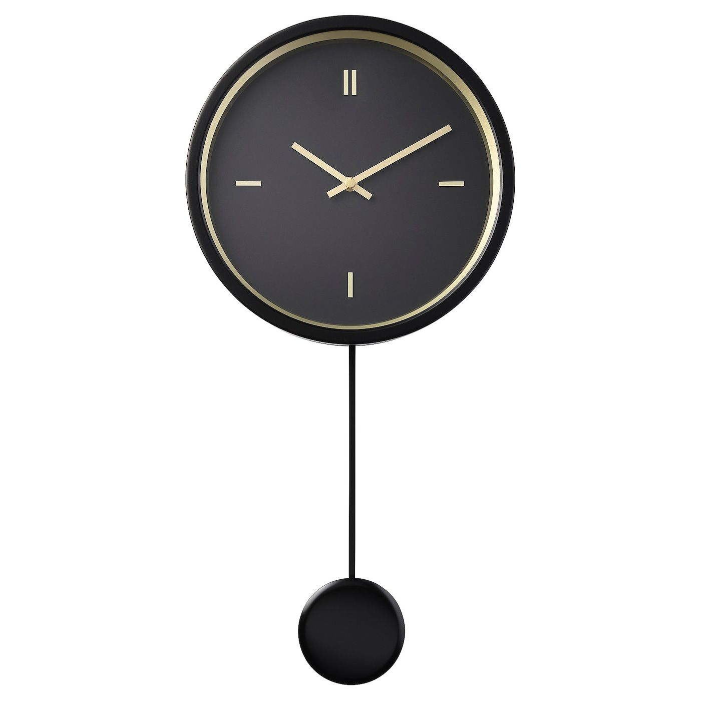 Stursk Wanduhr Schwarz Ikea Osterreich In 2020 Wall Clock Clock Big Wall Clocks