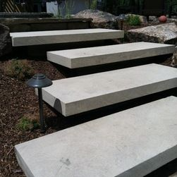 Best Concrete Slab Stairs Google Search Outdoor Steps Landscape Stairs 400 x 300