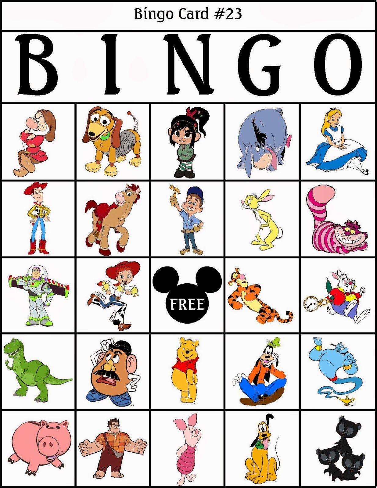 Bingo De Personajes Disney Para Imprimir Gratis Personajes Disney Cine Para Ninos Bingo