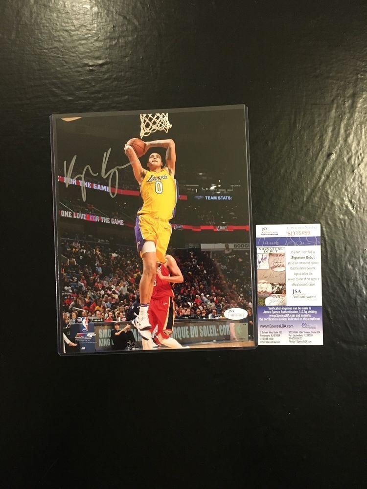 Kyle Kuzma Lakers Auto Autographed 8x10 Basketball Photo JSA Certified  3  (eBay Link) a5a13f17811e