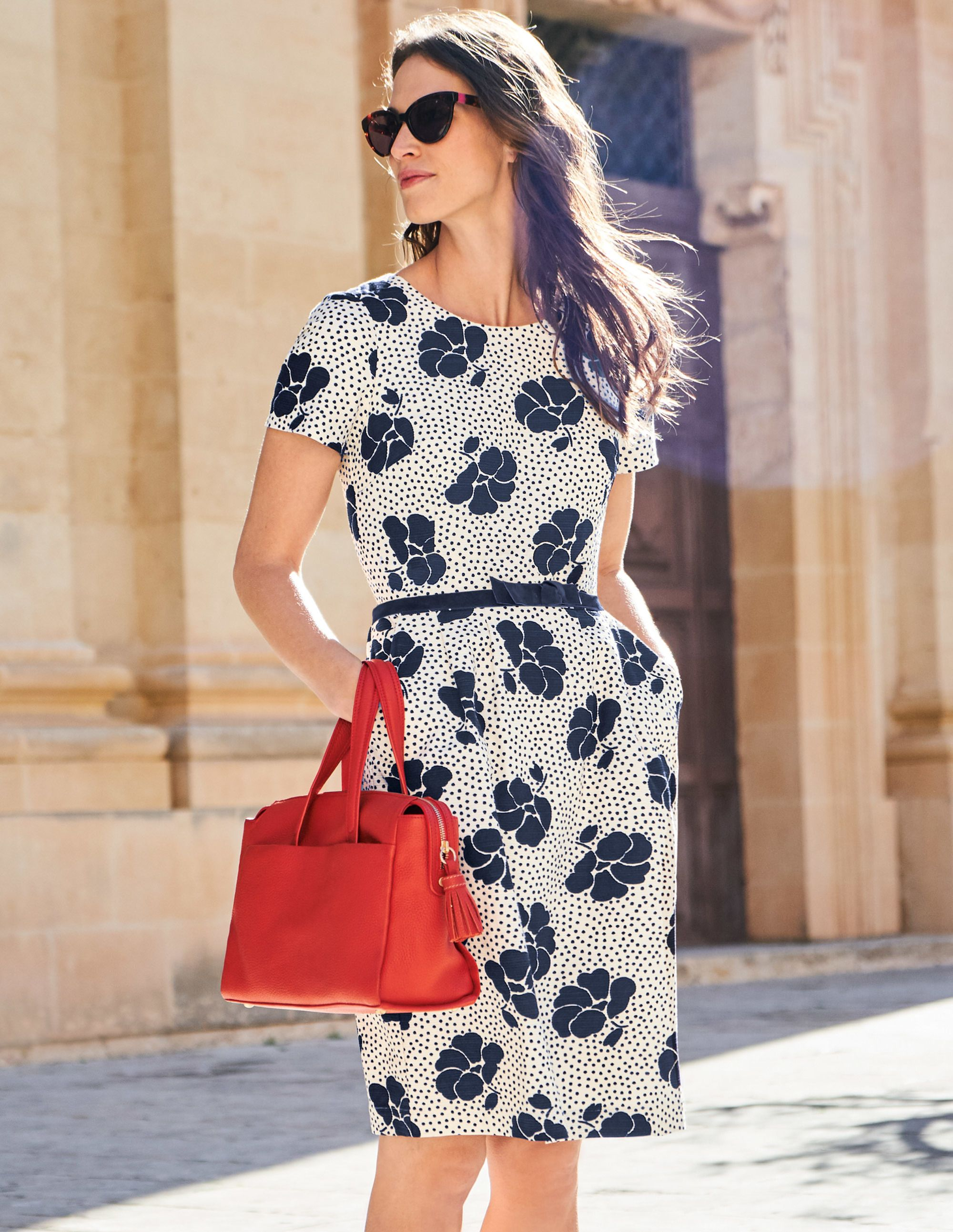 Sierra Textured Dress W0124 Dresses At Boden Something To Wear