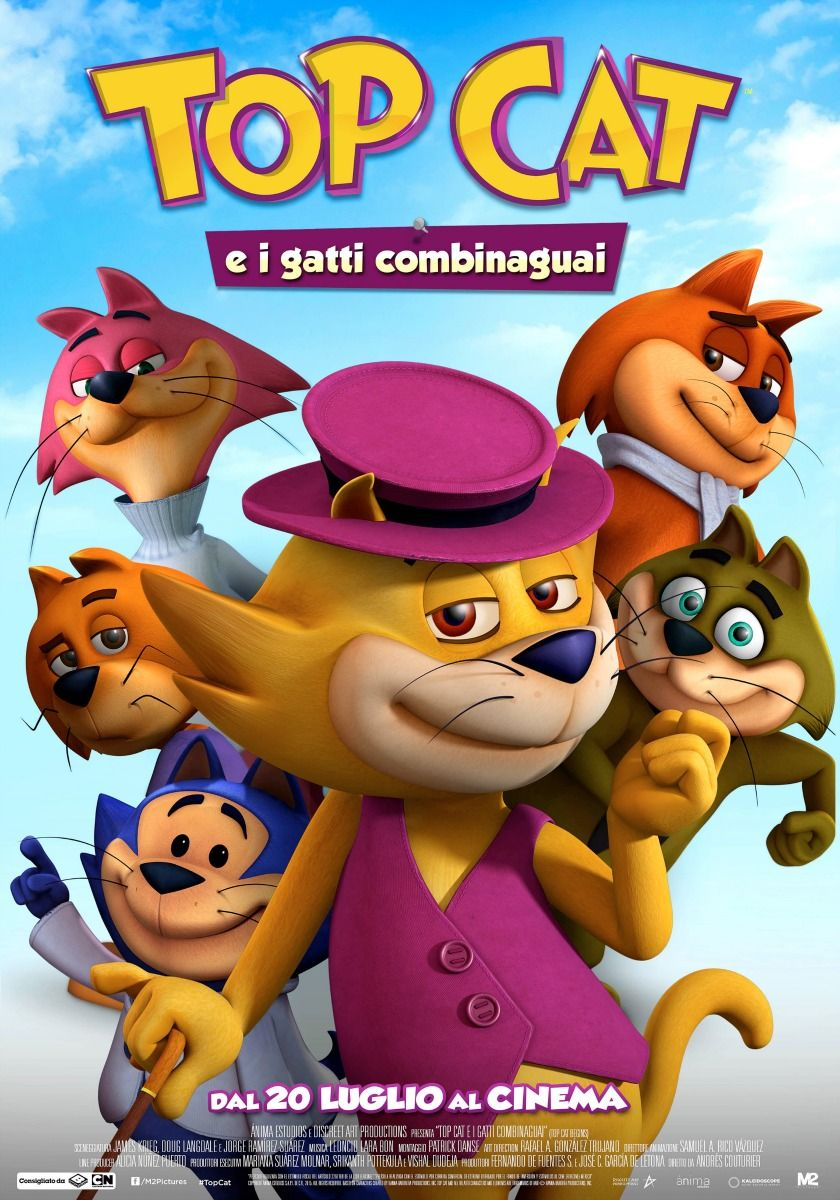 Top Cat e i gatti combinaguai, il film d'animazione di