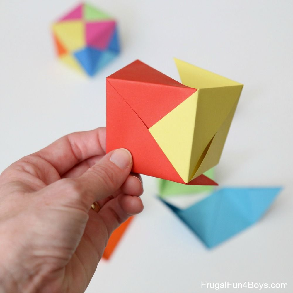 Make an origami banger origami simple origami and paper folding jeuxipadfo Image collections
