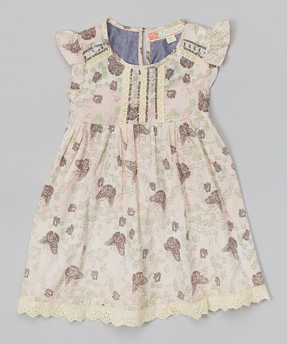 This Pastel Garden Floral Angel-Sleeve Dress - Toddler by Free Planet is perfect! #zulilyfinds
