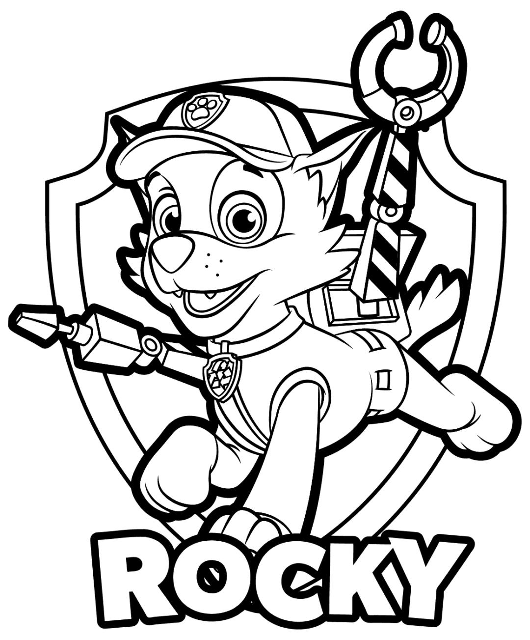 Coloring Rocks Paw Patrol Coloring Paw Patrol Coloring Pages Paw Patrol Rocky