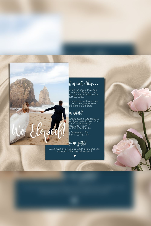 Elopement Announcement Reception Elopement Invites Wedding Etsy Wedding Announcements Templates Wedding Announcements Joy Wedding Website