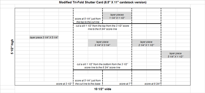 tri fold card template