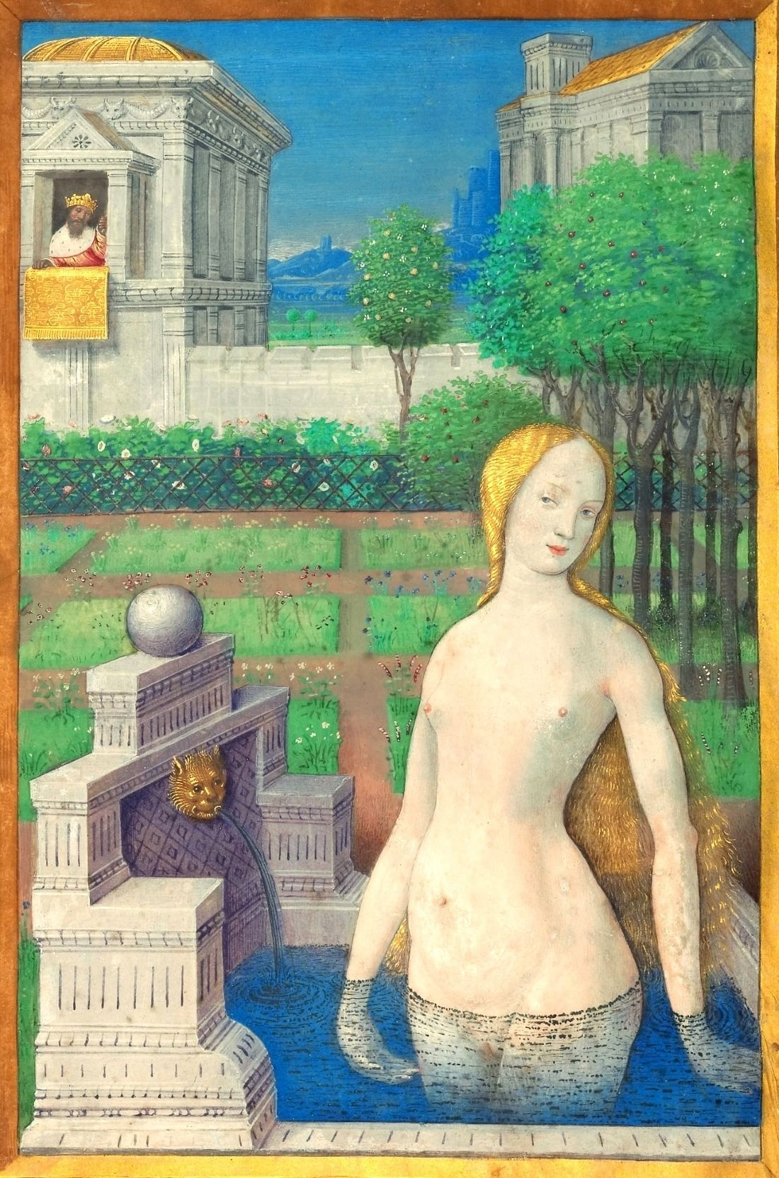 Bathsheba Bathing Jean Bourdichon Tours France Ca 1498 Getty