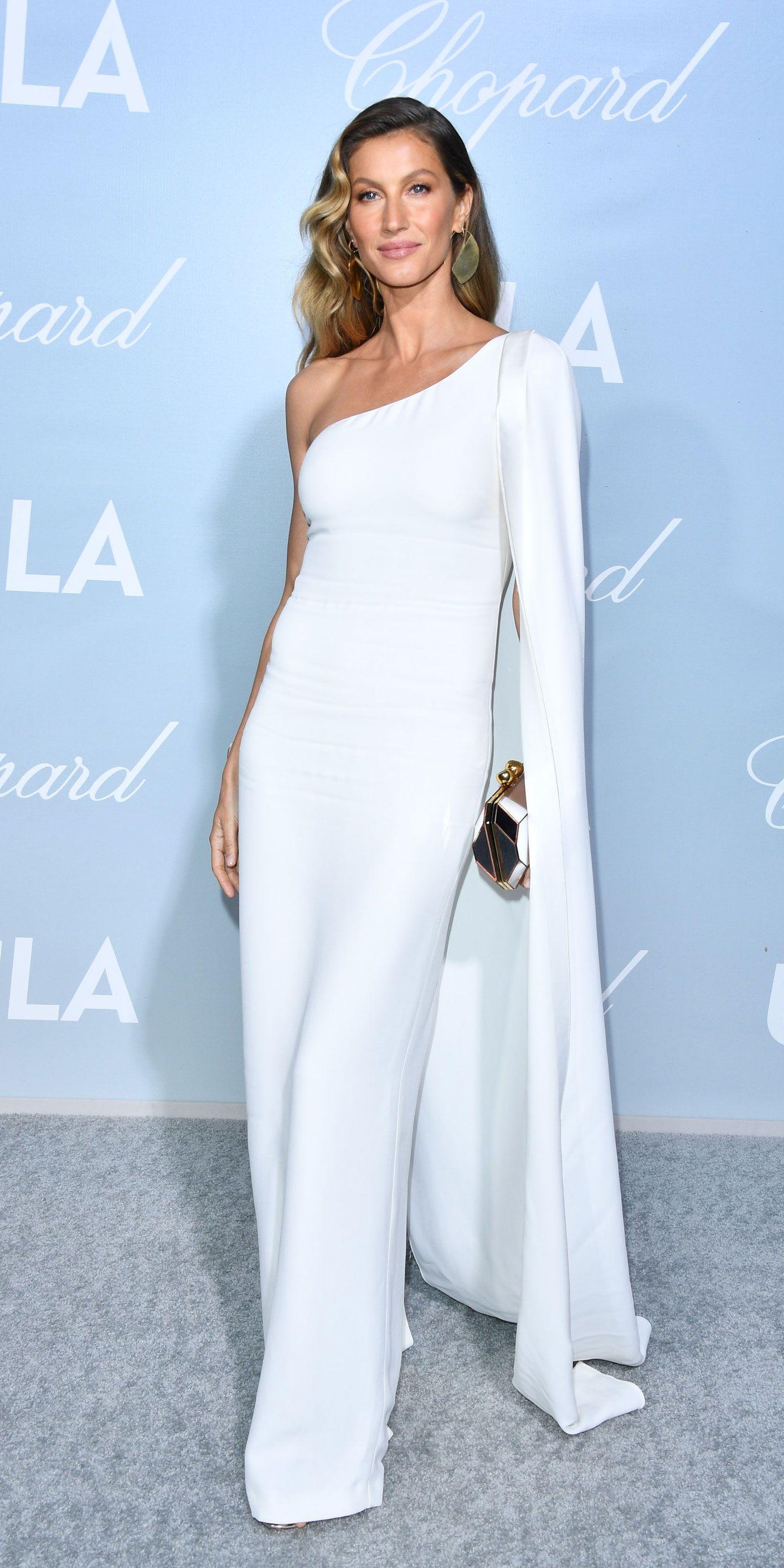 Look Of The Day Gisele Bundchen Style Fashion Stella Mccartney Dresses [ 2832 x 1416 Pixel ]