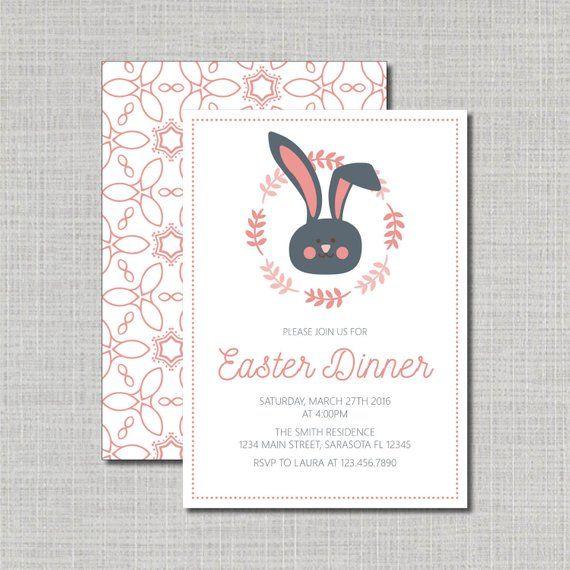 Easter Dinner Invitation Easter Brunch Invite Easter Meal Easter Invitation Eas Holiday Invitations Easter Invitations Brunch Invitations