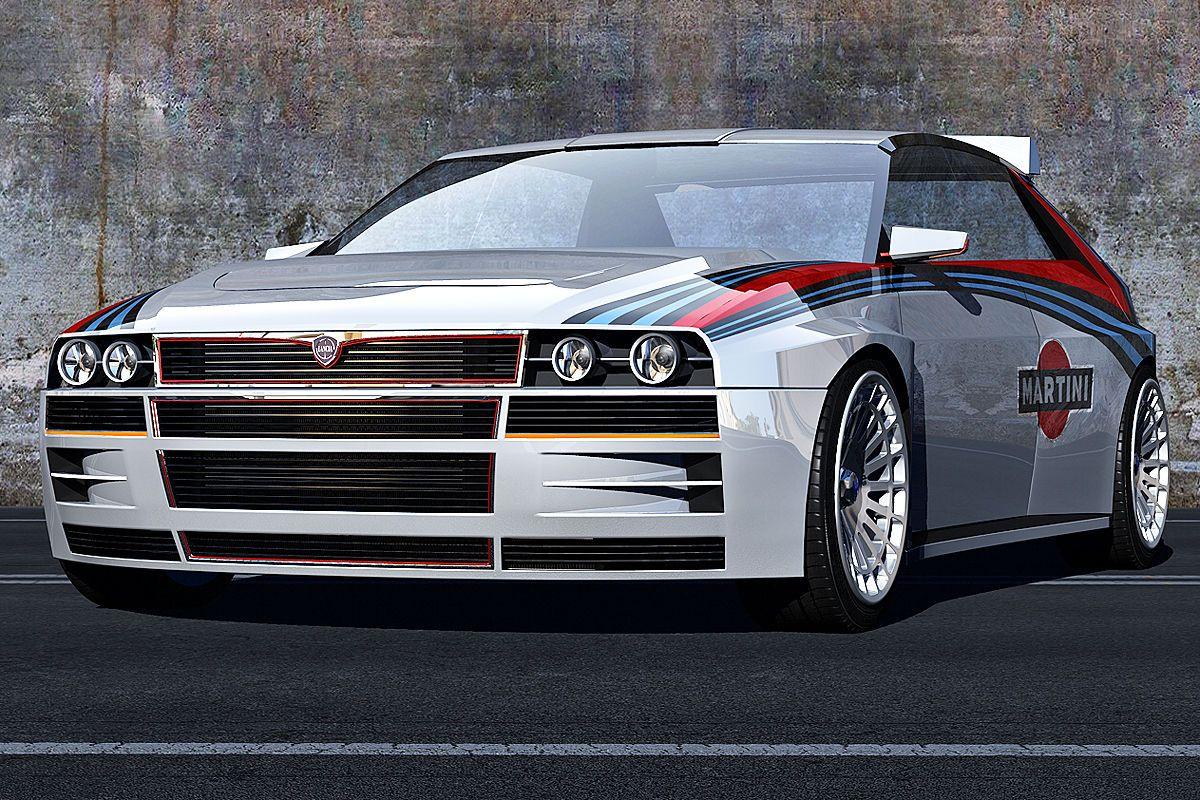 lancia delta hf integrale concept 3d rendering lancia delta cars and rally. Black Bedroom Furniture Sets. Home Design Ideas