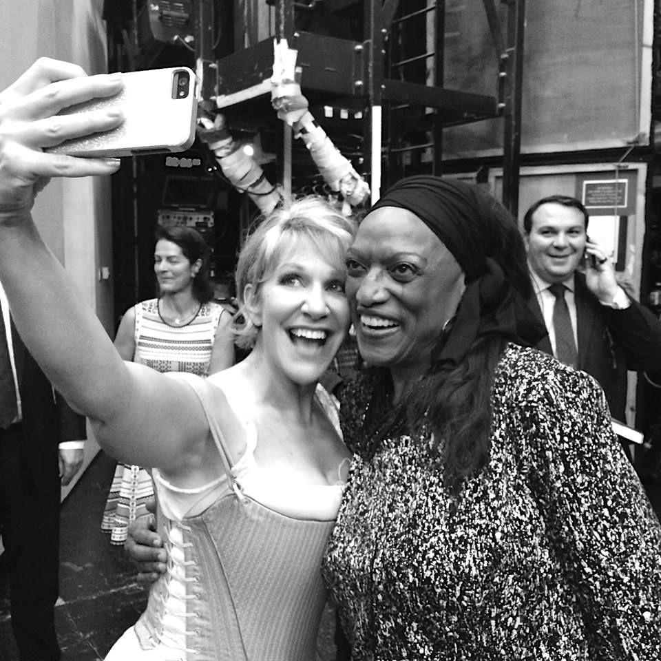 Joyce DiDonato y Jessye Norman. Selfie. (Royal Opera House, julio 2014)