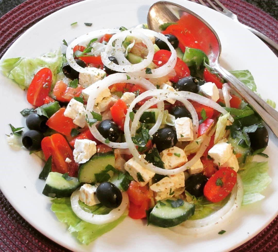Griechischer Bauernsalat « Kochen & Backen leicht gemacht mit Schritt für Schritt Bildern von & mit Slava