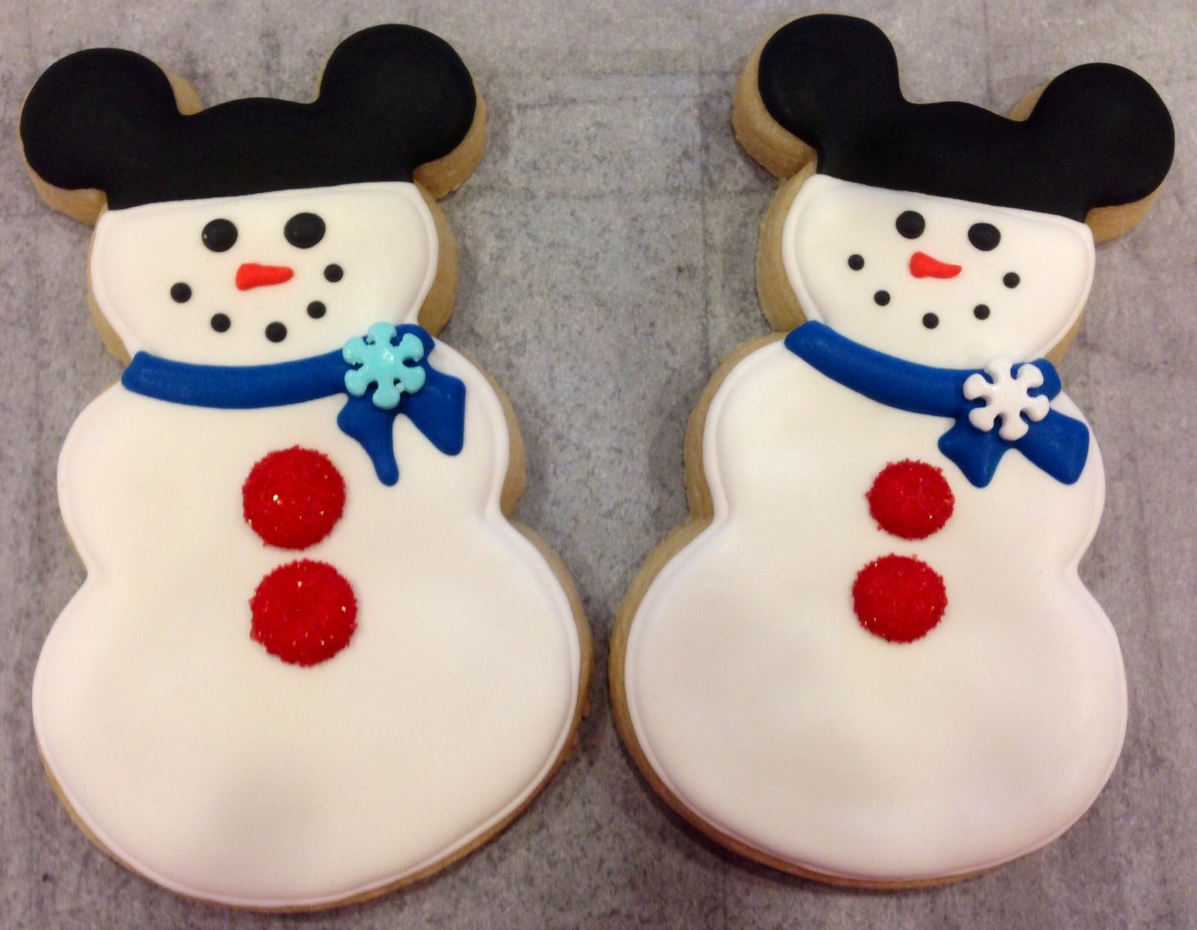 Mickey Mouse Snowman Sugar Cookies By What The Cookie Confections