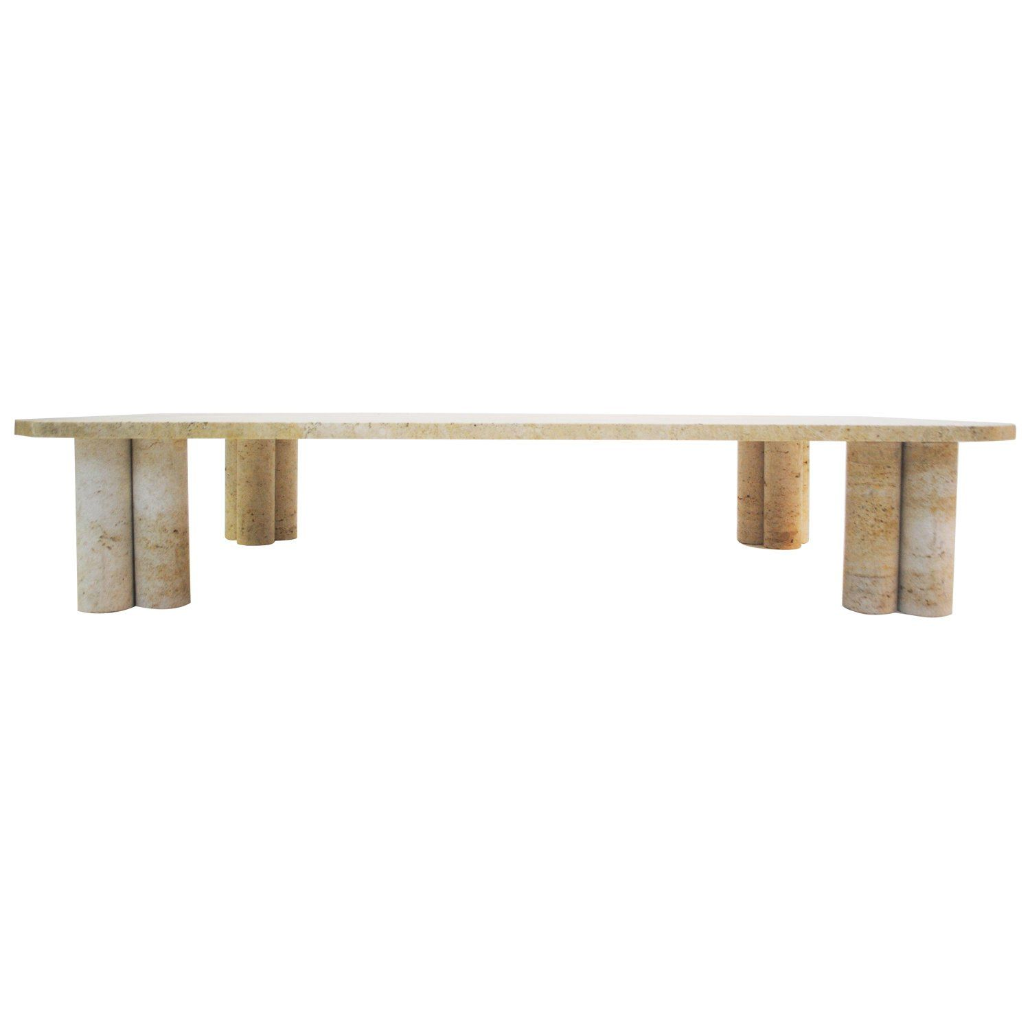 Coffee Table In Travertine In The Style Of Mario Bellini Italy Circa 1970s Travertine Coffee Table Travertine Italian Floor Lamp